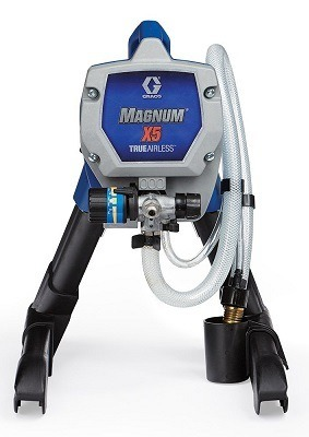 Graco Magnum 262800 X5 Stand Airless Paint Sprayer front view.