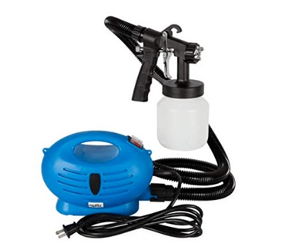electric paint sprayer with portable construction