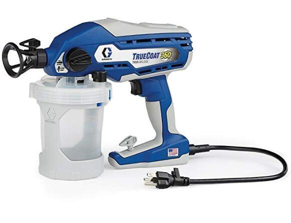 Graco TrueCoat 360 paint sprayer for trim work in any direction