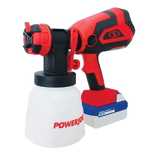 HVLP battery powered paint sprayer kit