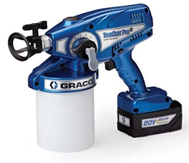 Graco TrueCoat Pro handheld airless paint sprayer with cordless design