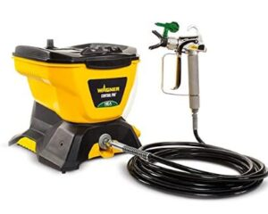 Wagner high efficiency airless paint sprayer with long hose for cabinets