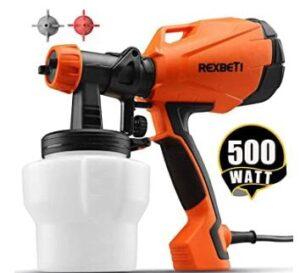 Rexbeti hvlp electric handheld paint sprayer with 3 nozzle sizes