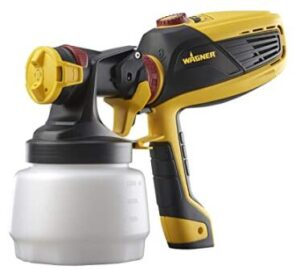 Wagner handhled paint spray gun with complete adjustability