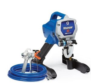 graco magnum x5 standi airless paint sparyer with adjustable pressure for exterior painting