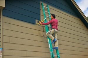how to spray paint home exterior